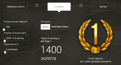 Алфьа-Банк: калькулятор голды по карте World of Tanks